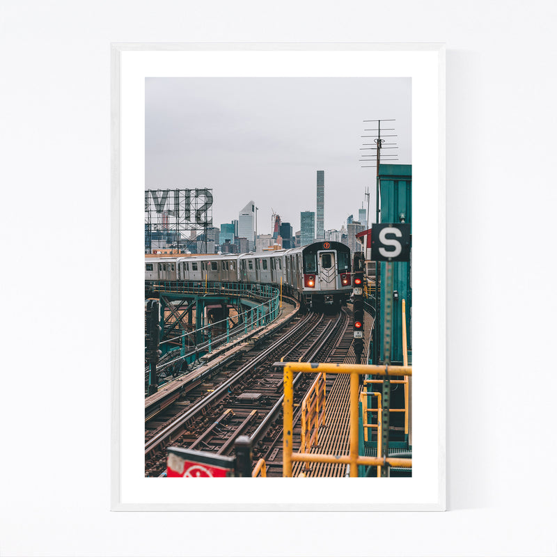 MTA Subway Queens New York NYC Framed Art Print