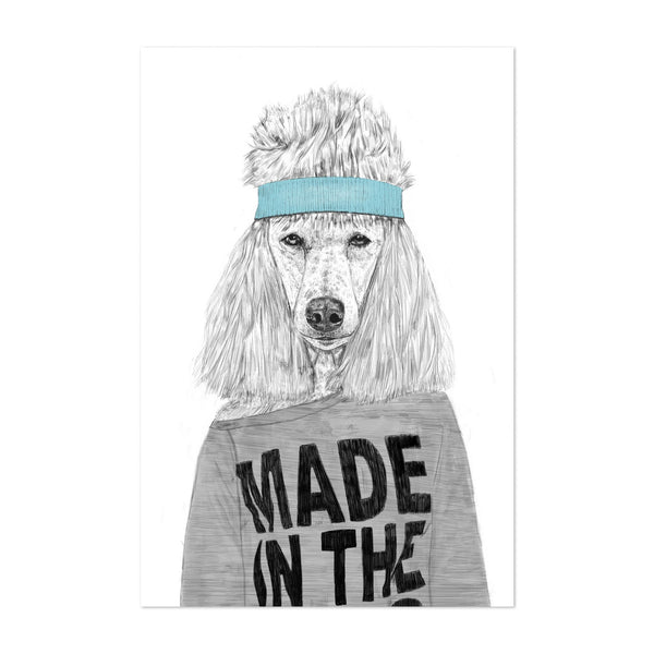 Fashion Poodle Dog Urban Illustration Art Print