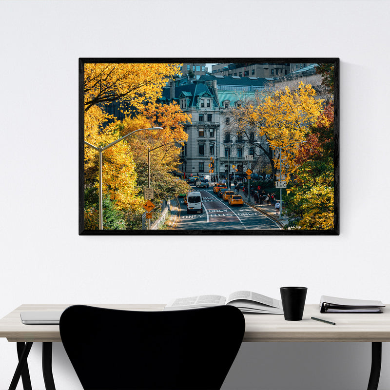 Central Park NYC New York Autumn Framed Art Print