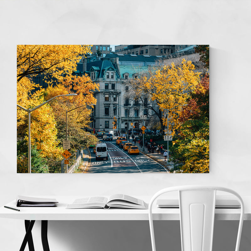 Central Park NYC New York Autumn Canvas Art Print