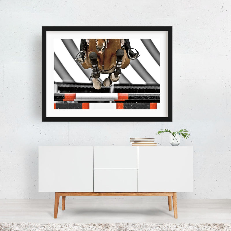 Sports Animals Horse Photo Framed Art Print