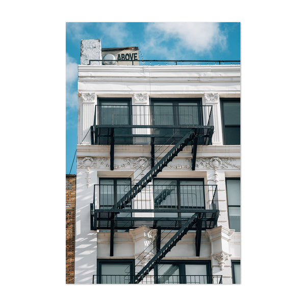 Above Sign Lower East Side NYC Art Print