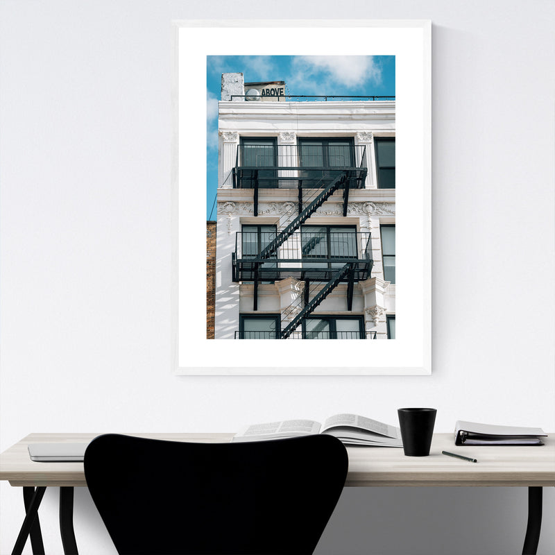 Above Sign Lower East Side NYC Framed Art Print