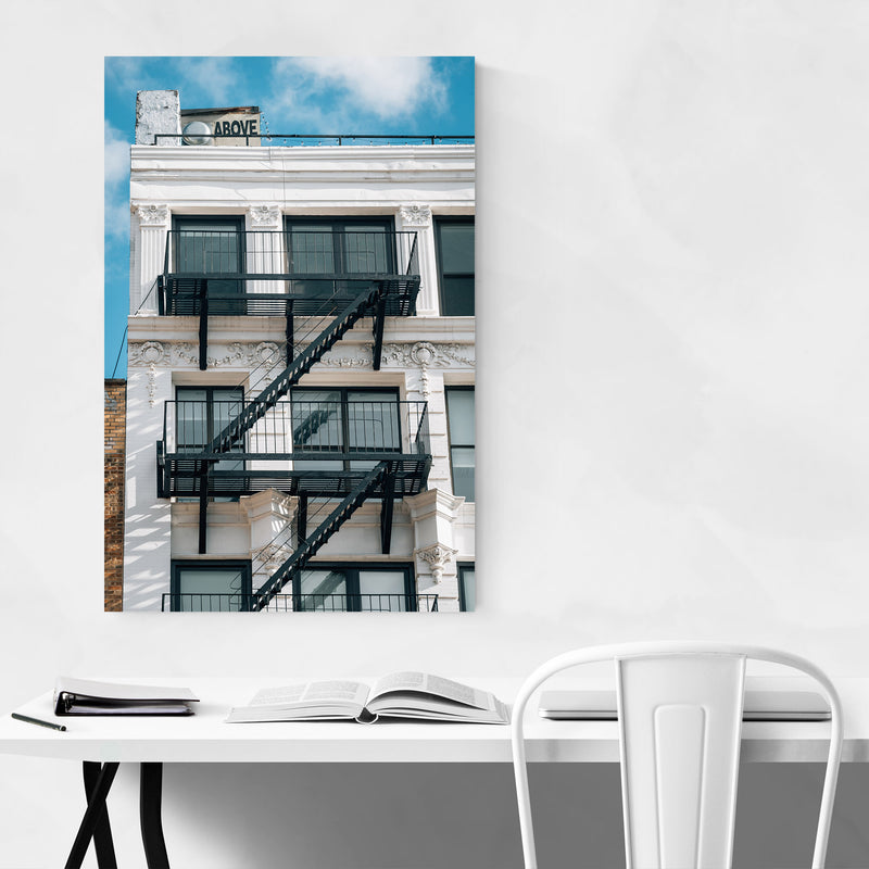 Above Sign Lower East Side NYC Canvas Art Print