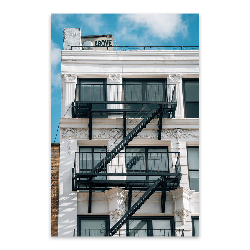 Above Sign Lower East Side NYC Metal Art Print