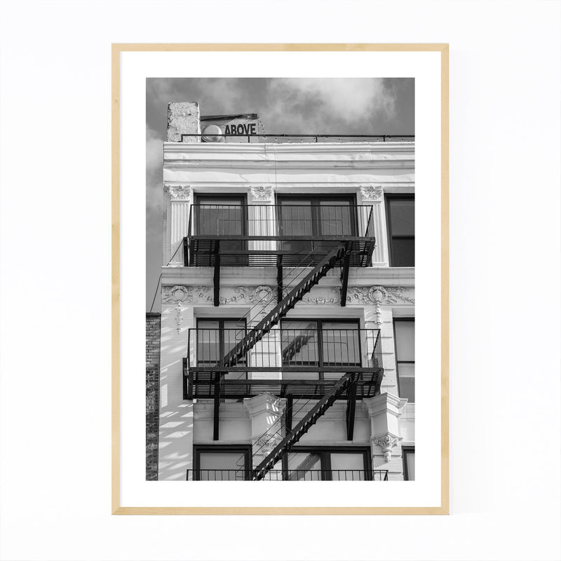 Black White New York City Photo Framed Art Print