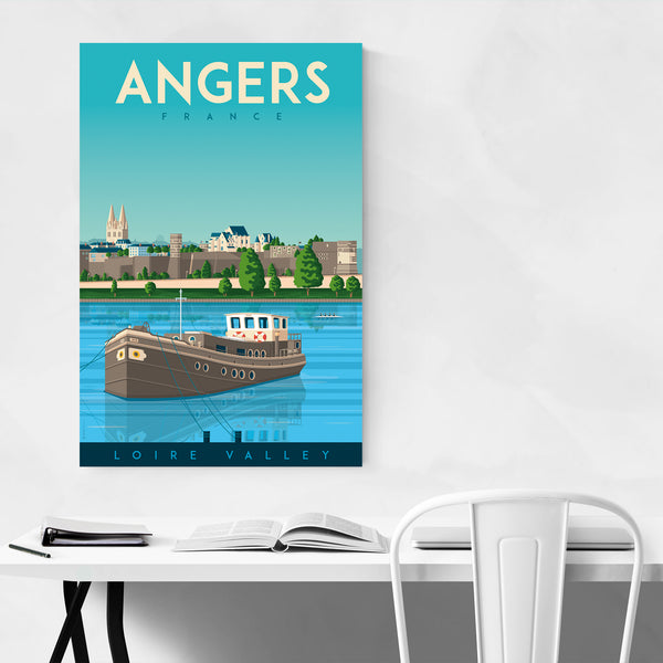 Retro Angers France Travel Print Art Print
