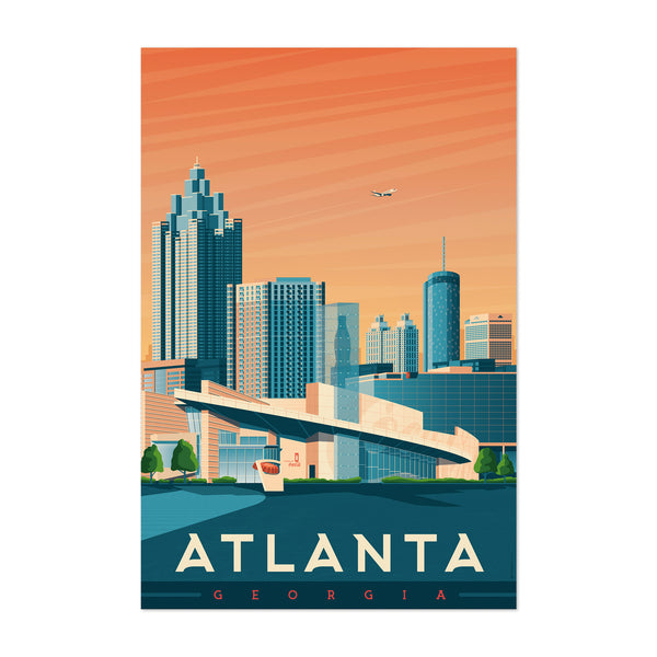 Minimal Atlanta Travel Print Art Print