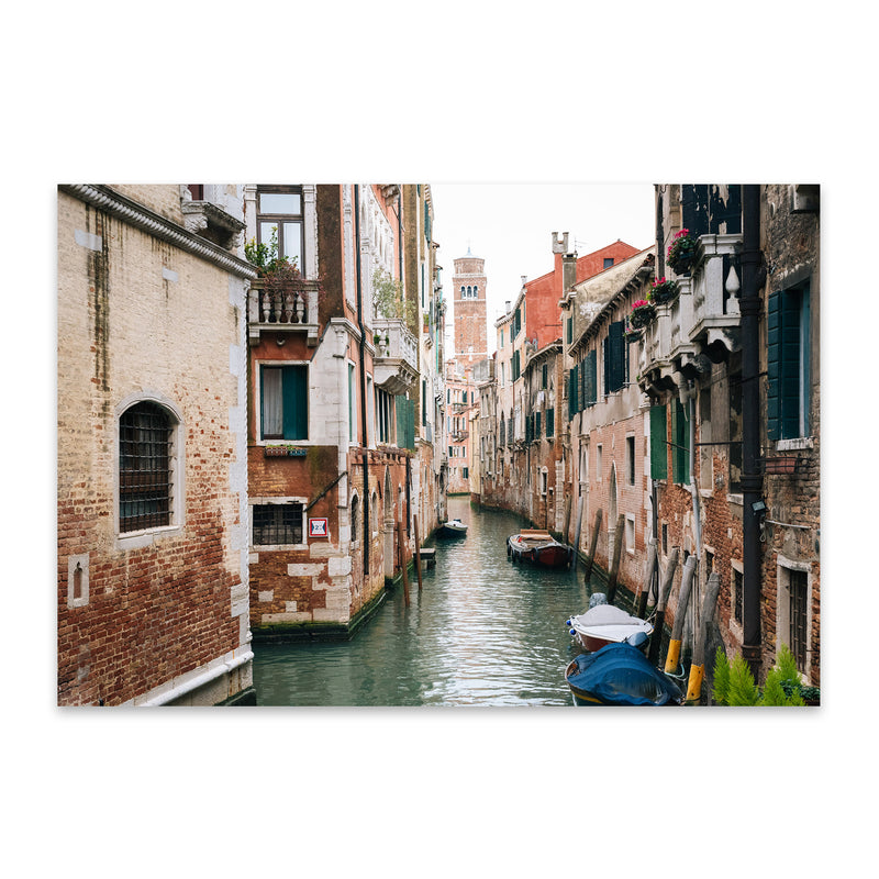 Venice Italy Canal Photography Metal Art Print