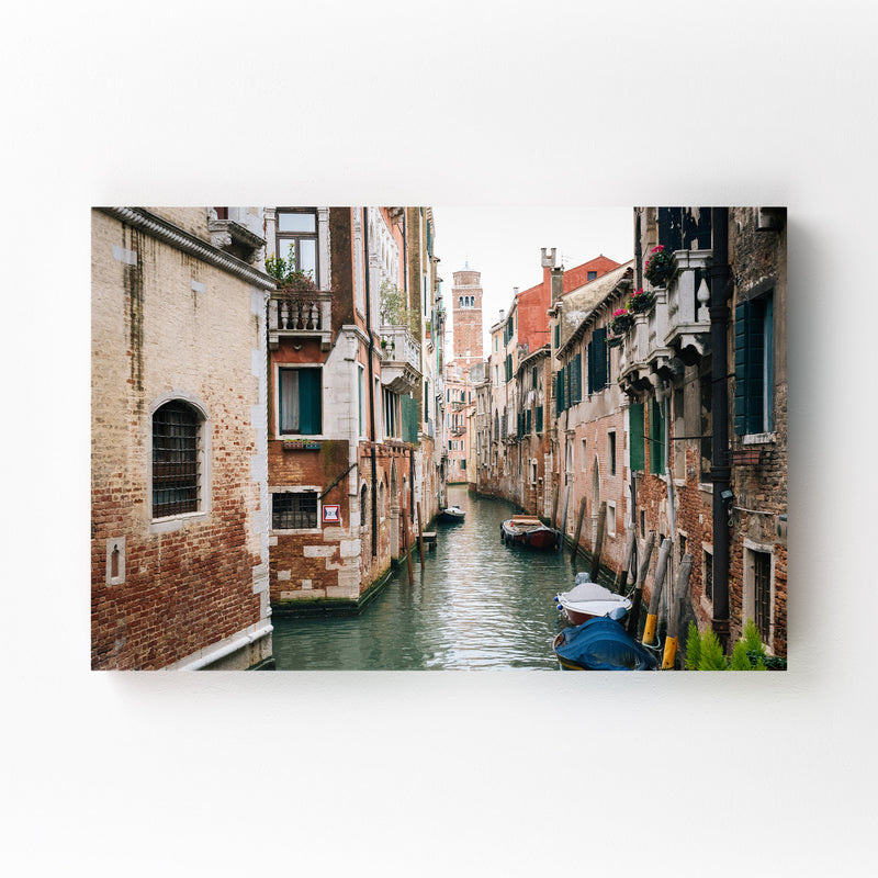 Venice Italy Canal Photography Mounted Art Print