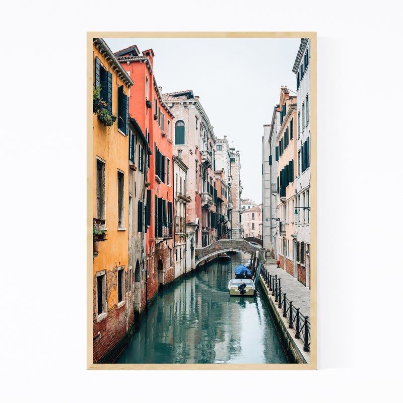 Venice Italy Canal Photography Framed Art Print
