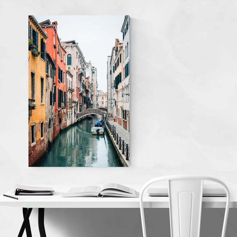 Venice Italy Canal Photography Canvas Art Print