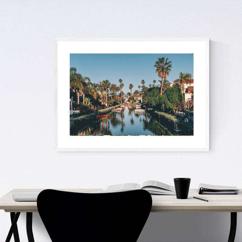 Venice Beach Canals Los Angeles Framed Art Print