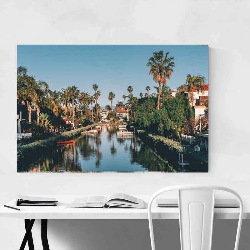 Venice Beach Canals Los Angeles Canvas Art Print