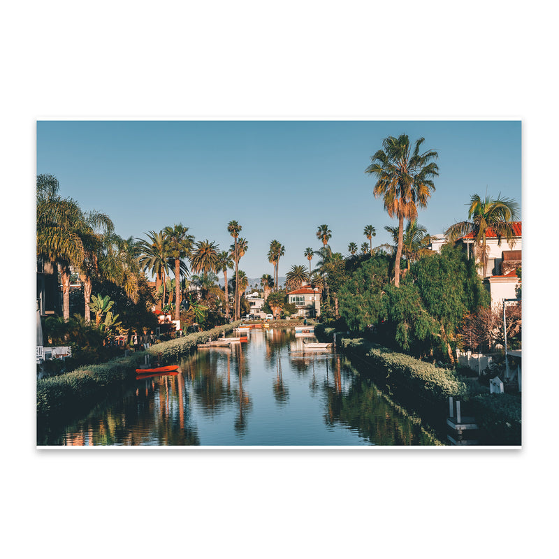 Venice Beach Canals Los Angeles Metal Art Print
