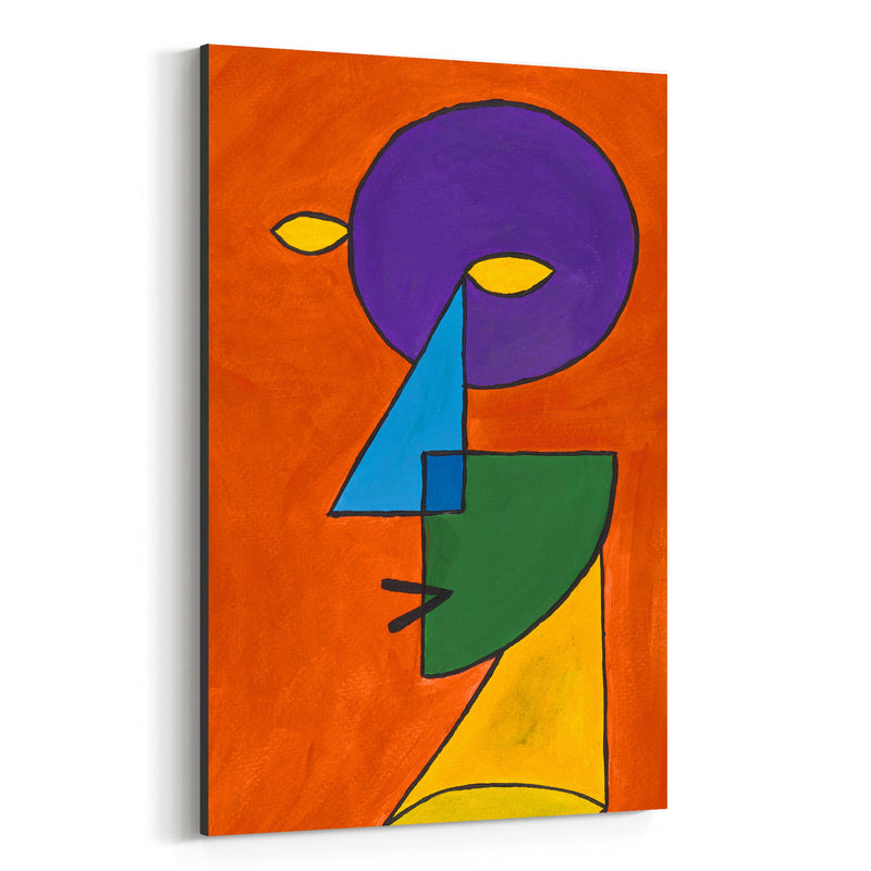 Abstract Geometric Face Painting Canvas Art Print