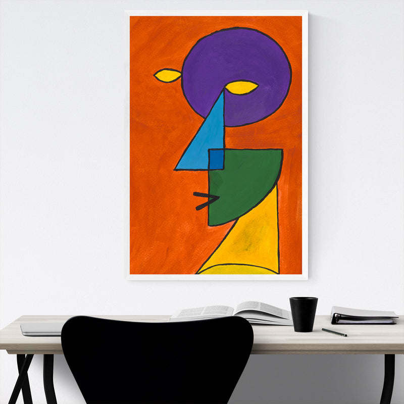 Abstract Geometric Face Painting Framed Art Print