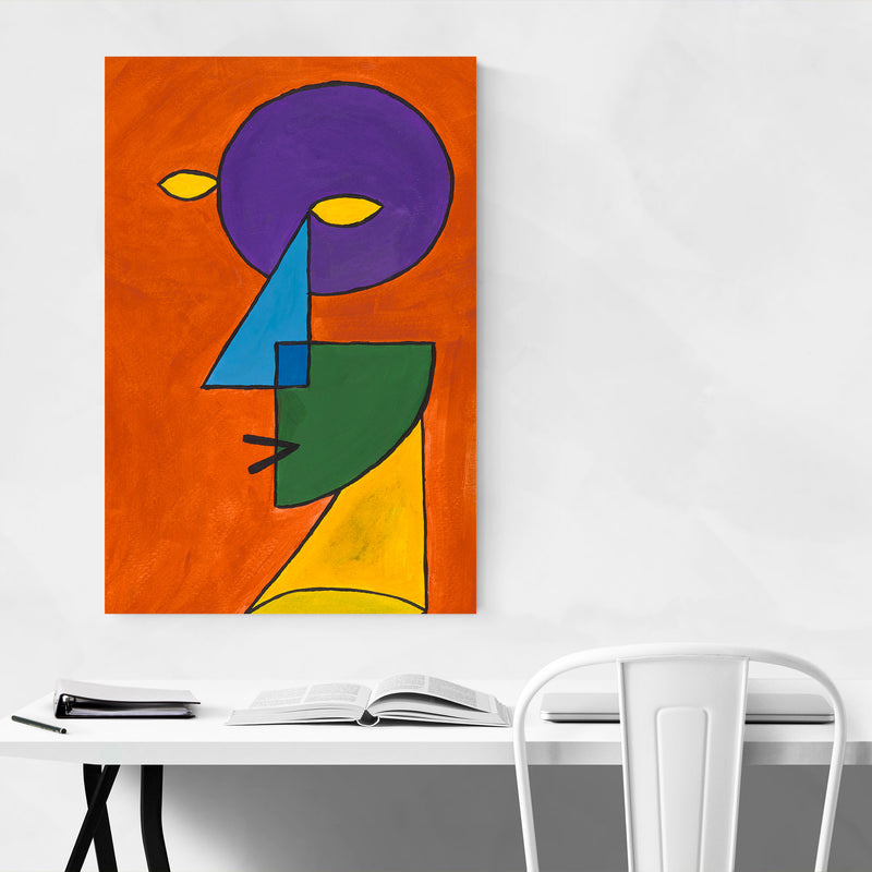 Abstract Geometric Face Painting Art Print