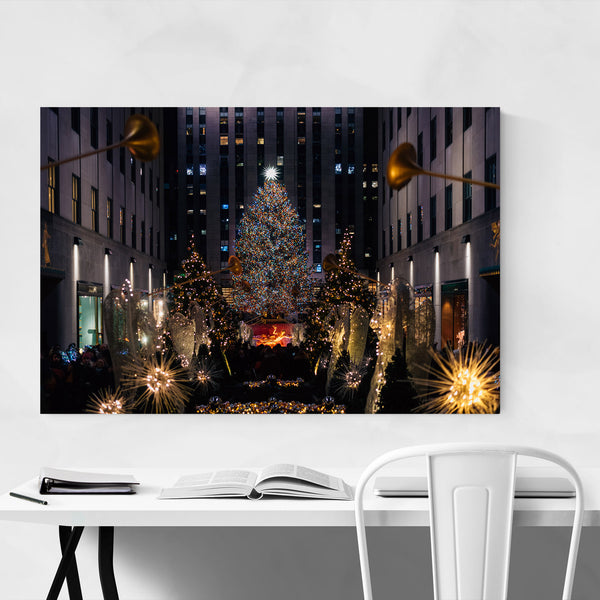 New York City Christmas Tree Art Print
