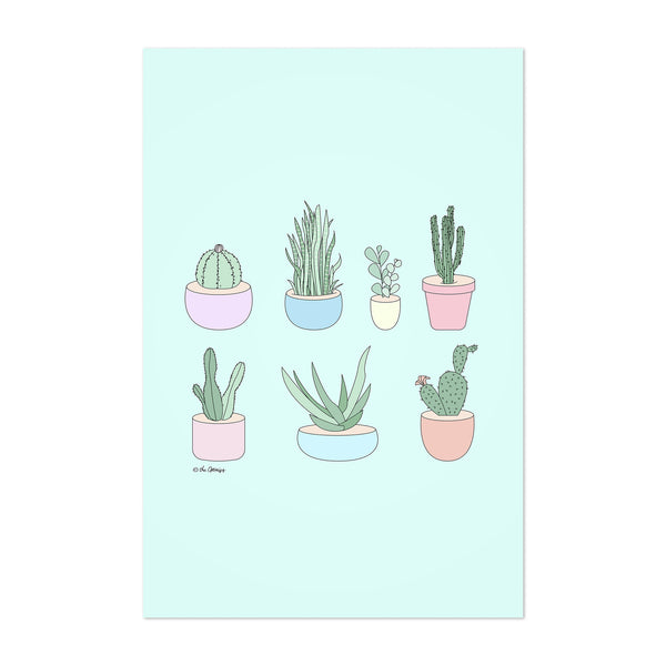 Cactus Succulents Floral Nature Art Print