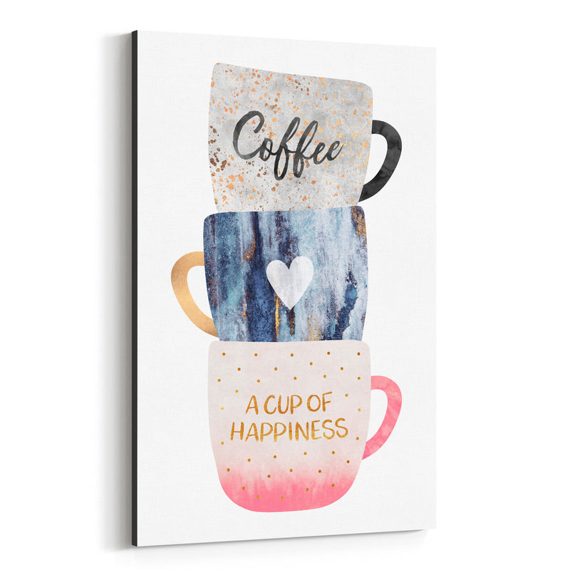 Coffee Typography Illustration Canvas Art Print