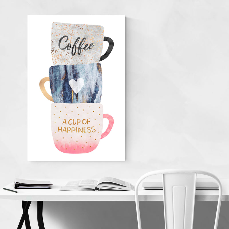 Coffee Typography Illustration Art Print