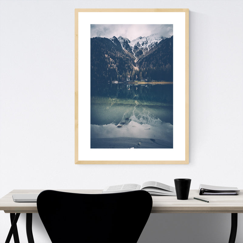 Italy Alps South Tyrol Mountains Framed Art Print