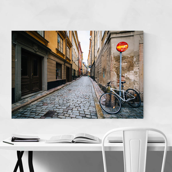 Stockholm Cobblestone Old Town Art Print