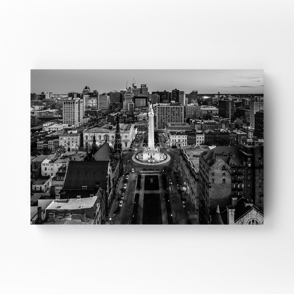 Washington Monument Baltimore Mounted Art Print