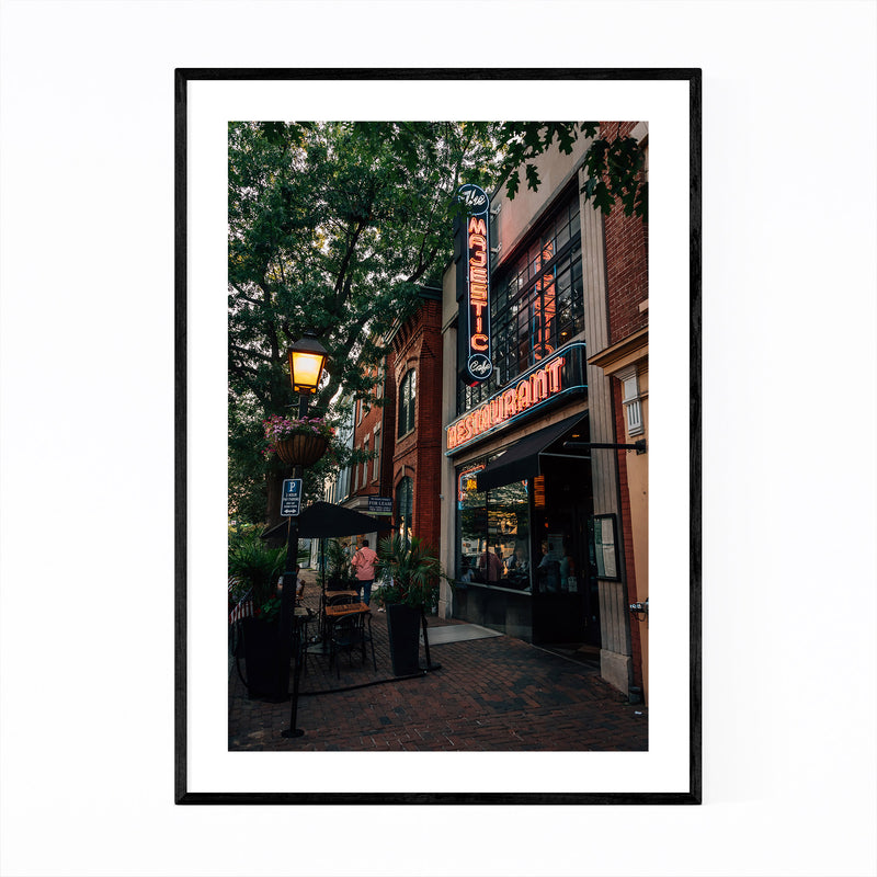 Alexandria Virginia King Street Framed Art Print