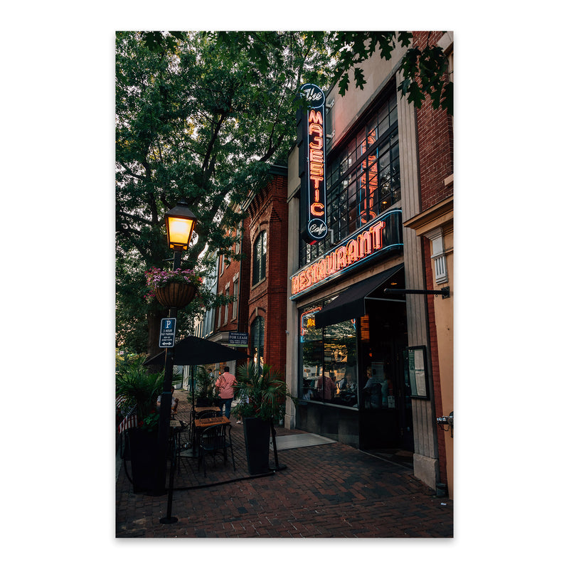 Alexandria Virginia King Street Metal Art Print