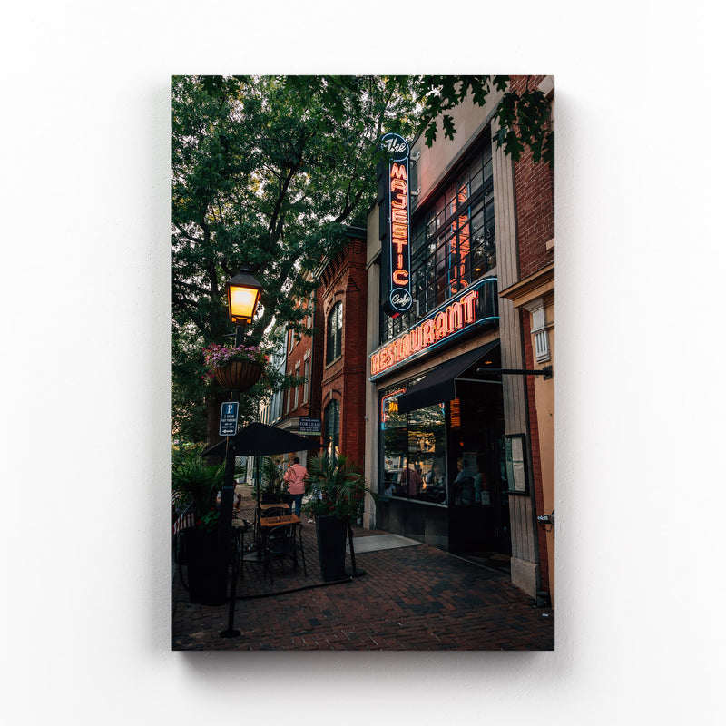 Alexandria Virginia King Street Mounted Art Print