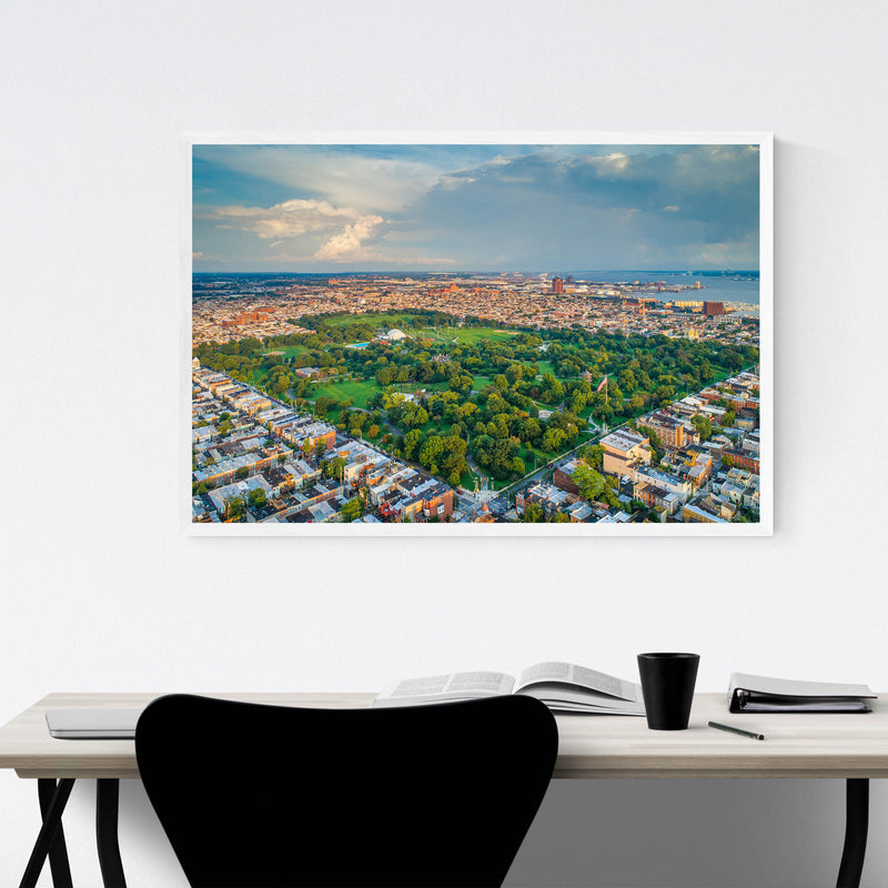 Patterson Park Baltimore View Framed Art Print
