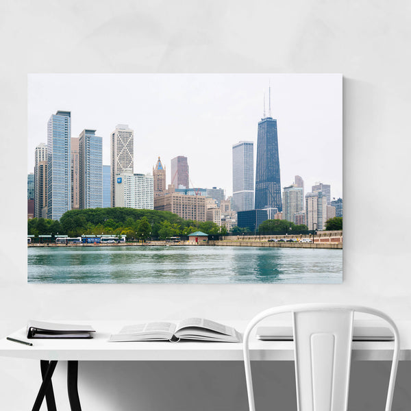 Chicago Skyline Cityscape Photo Art Print