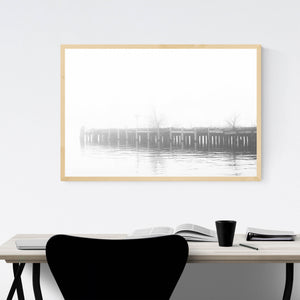 Fells Point Baltimore Pier Framed Art Print