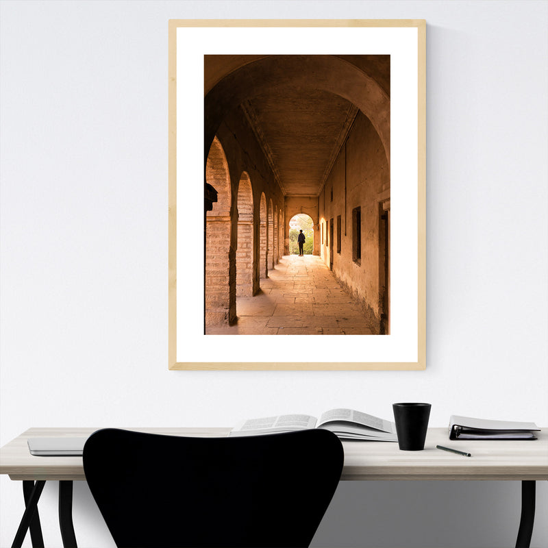 Abandoned Arches Architecture Framed Art Print