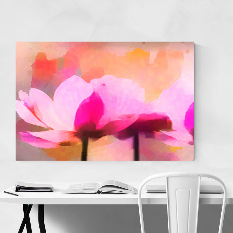 Floral Watercolor Anemone Flower Metal Art Print