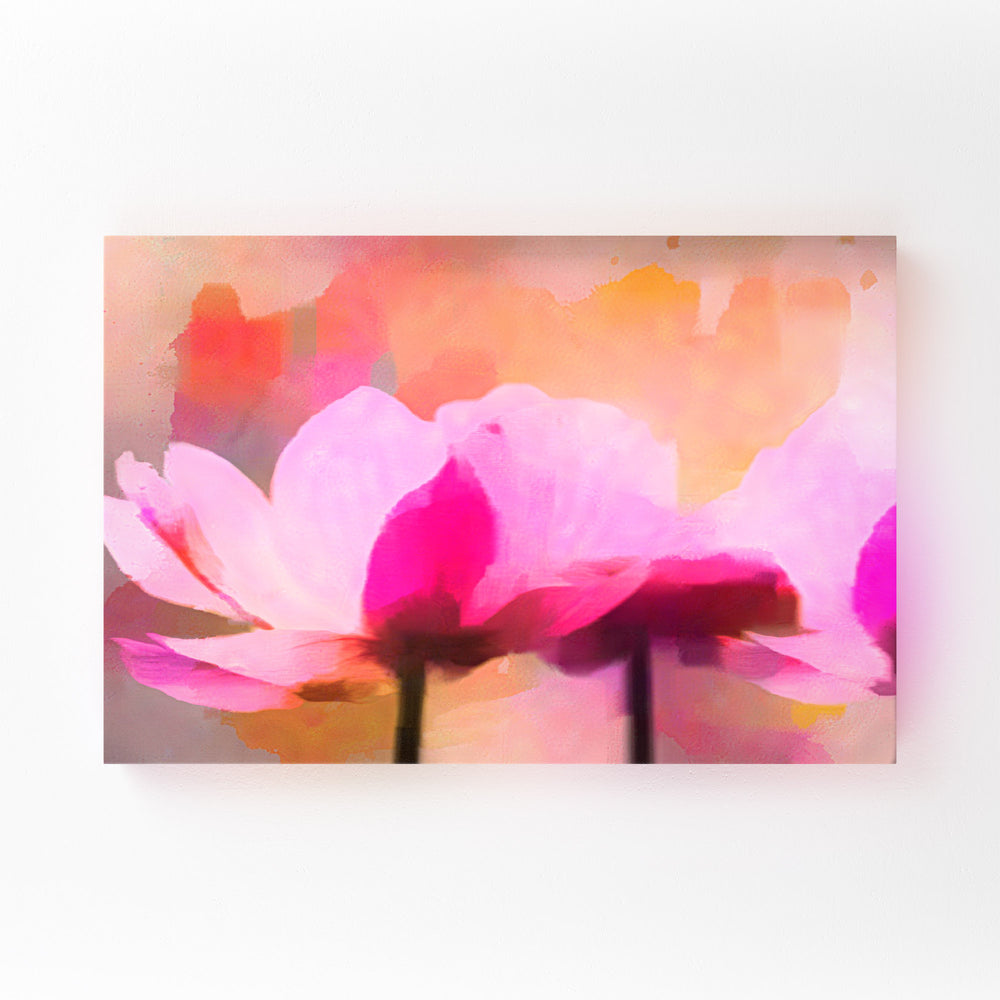 Floral Watercolor Anemone Flower Mounted Art Print