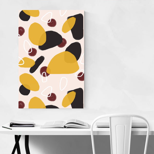 Autumn Abstract Pattern Circle Art Print