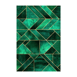 Blue Abstract Nature Geometric Art Print