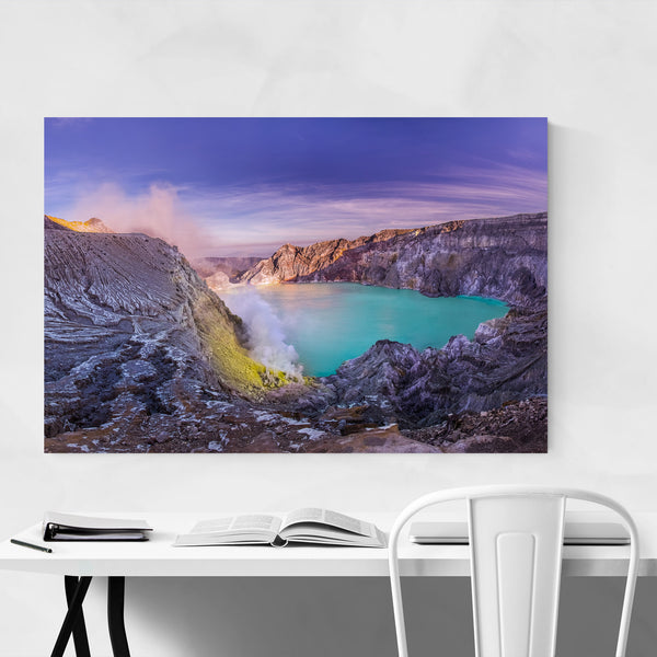 Lake Landscape Java Indonesia Art Print
