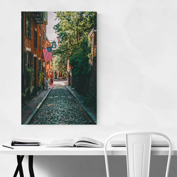 Acorn Street Boston Beacon Hill Art Print