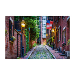 Boston Acorn Street Beacon Hill Art Print