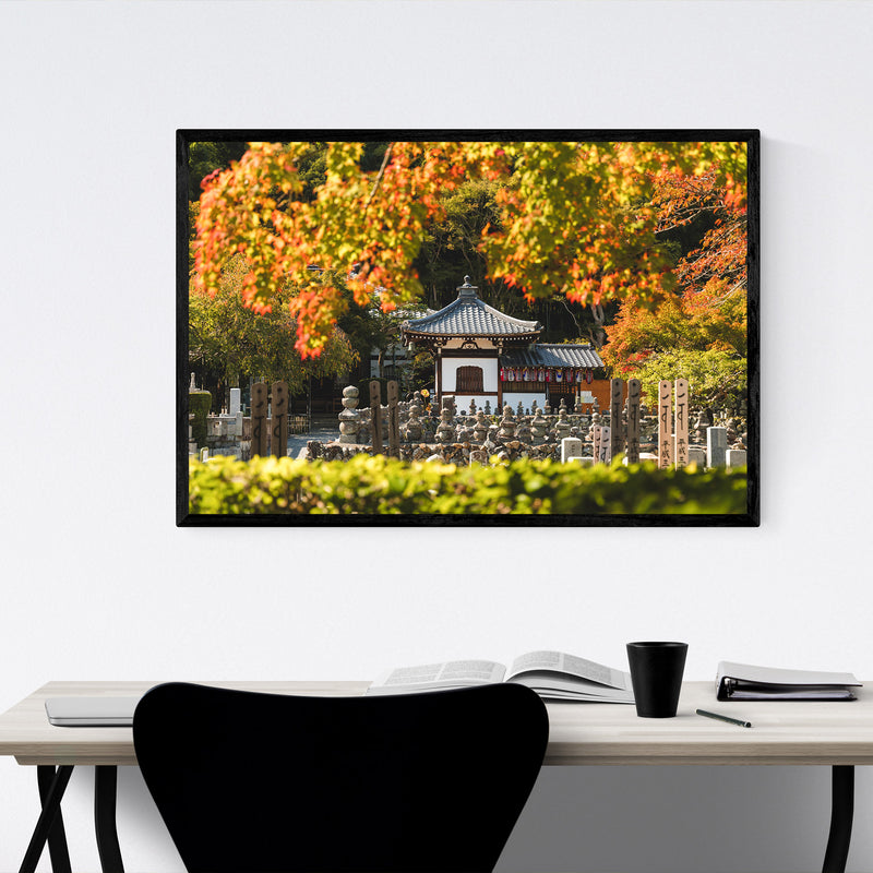 Kyoto Japan Buddhist Temple Framed Art Print