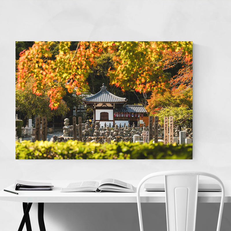 Kyoto Japan Buddhist Temple Metal Art Print