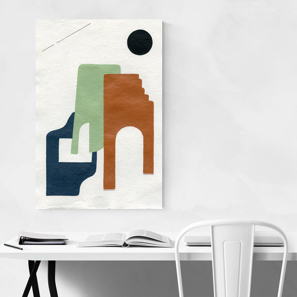 Abstract Geometric Minimal Adobe Art Print