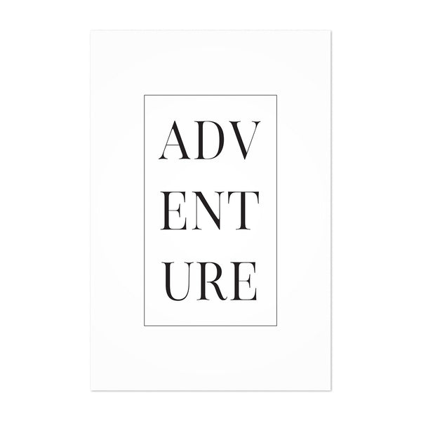 Minimal Adventure Typography Art Print
