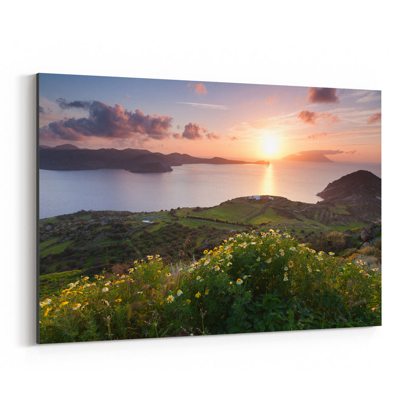 Aegean Sea Milos Greece Coast Canvas Art Print