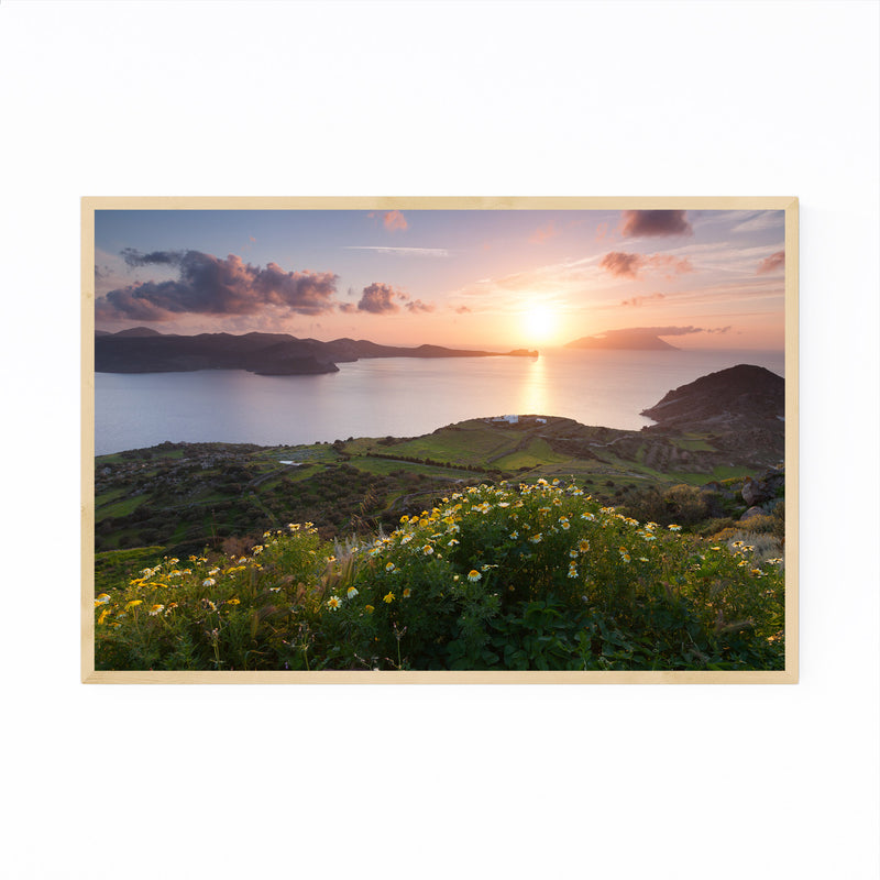 Aegean Sea Milos Greece Coast Framed Art Print