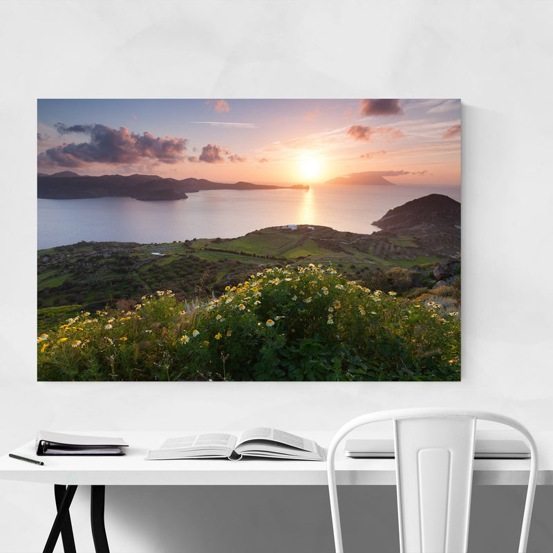 Aegean Sea Milos Greece Coast Metal Art Print